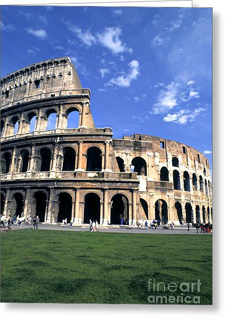 Ancient Ruins Greeting Cards - The Colosseum, Rome Greeting Card by Bill Bachmann