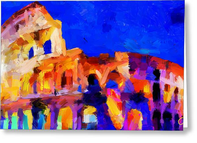 Vincent Dinovici Greeting Cards - The Colosseum TNM Greeting Card by Vincent DiNovici