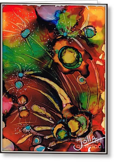 Algae Paintings Greeting Cards - The colours of my mind.. Greeting Card by Jolanta Anna Karolska