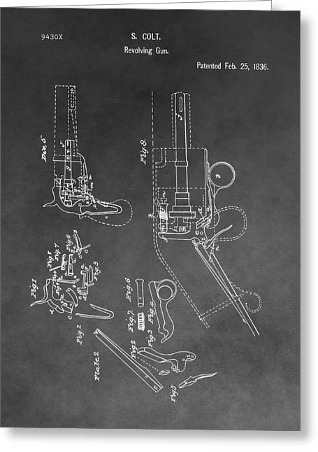 Texas Revolution Greeting Cards - The Colt Revolver Greeting Card by Dan Sproul