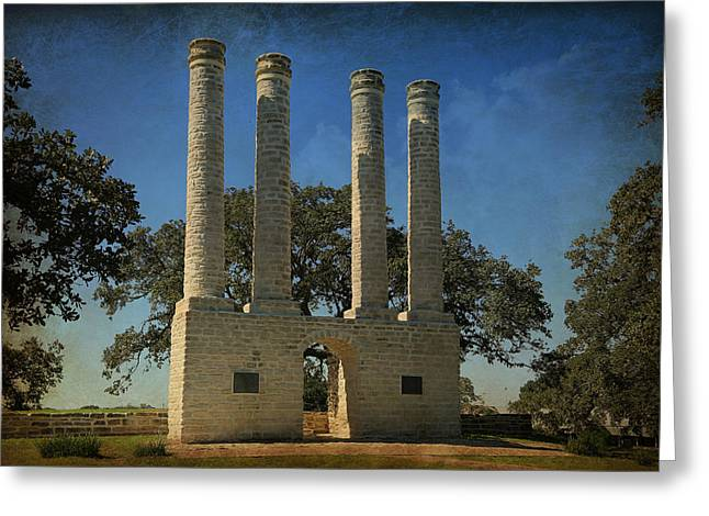 Cole Greeting Cards - The Columns of Old Baylor at Independence -- 3 Greeting Card by Stephen Stookey