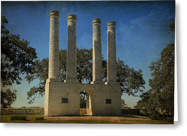 The Columns Of Old Baylor At Independence -- 3 Greeting Card by Stephen Stookey