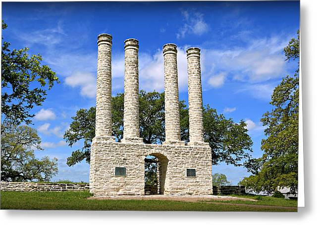 Waco Greeting Cards - The Columns of Old Baylor at Independence -- 4 Greeting Card by Stephen Stookey