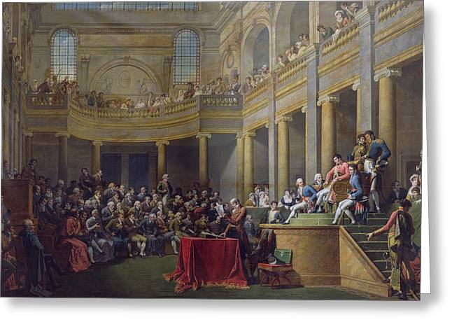 Election Greeting Cards - The Committee Of Lyon, 26th January 1802, 1808 Oil On Canvas Greeting Card by Nicolas Andre Monsiau