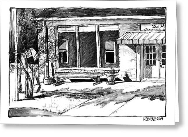 Sketchbook Greeting Cards - Community Center. Greeting Card by David Helwer