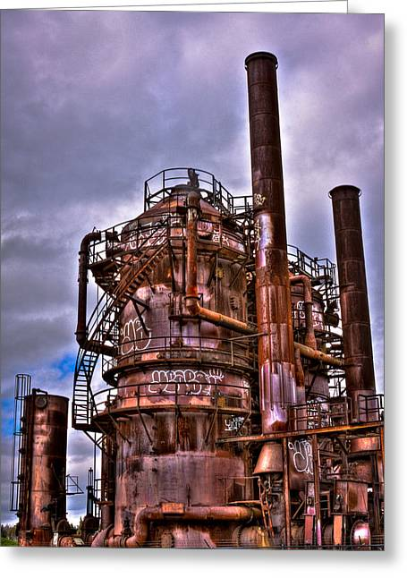 Manufacturing Greeting Cards - The Compressor Building at Gasworks Park - Seattle Washington Greeting Card by David Patterson