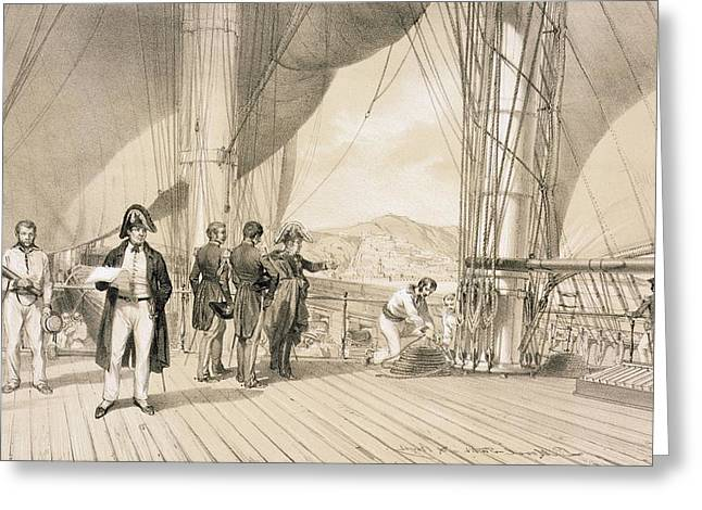 Algerian Greeting Cards - The Comte De Bourmont And Admiral Greeting Card by Antoine Leon Morel-Fatio