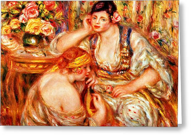 Sitting In A Chair Greeting Cards - The Concert Greeting Card by Pierre Auguste Renoir