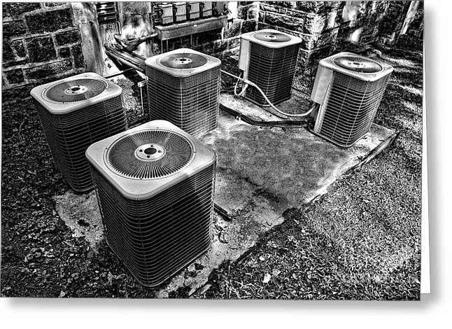 Air Conditioner Greeting Cards - The Condensers Greeting Card by Olivier Le Queinec