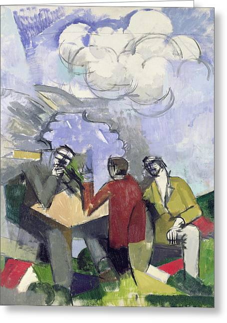 Debate Greeting Cards - The Conquest of the Air Greeting Card by Roger de La Fresnaye