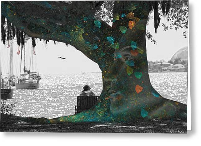 The Conscious Tree Greeting Card by Betsy Knapp