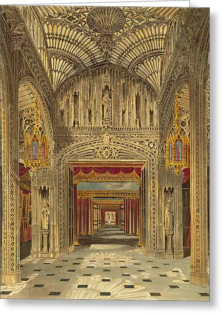 Vaulting Greeting Cards - The Conservatory At Carlton House Greeting Card by Charles Wild