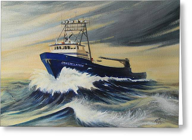 Deadliest Catch Greeting Cards - The Constellation Greeting Card by Rhonda Shelford Jansen  - RSJ
