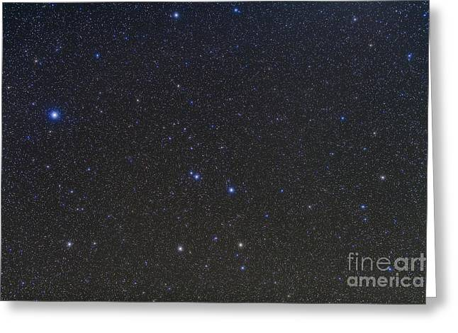 Corvus Greeting Cards - The Constellations Of Corvus And Crater Greeting Card by Alan Dyer