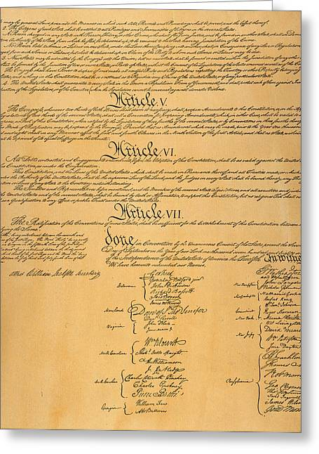 Convention Greeting Cards - The Constitution, 1787 Greeting Card by Granger