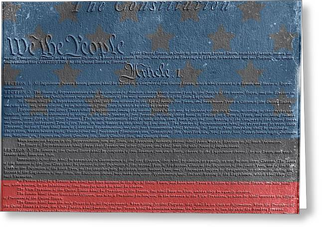 Tattered Greeting Cards - The Constitution Of The United States Of America Greeting Card by Dan Sproul