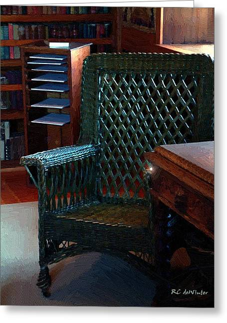 The Consulting Room Greeting Card by RC deWinter