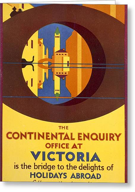 Advertisement Greeting Cards - The Continental Enquiry Office Greeting Card by Horace Taylor
