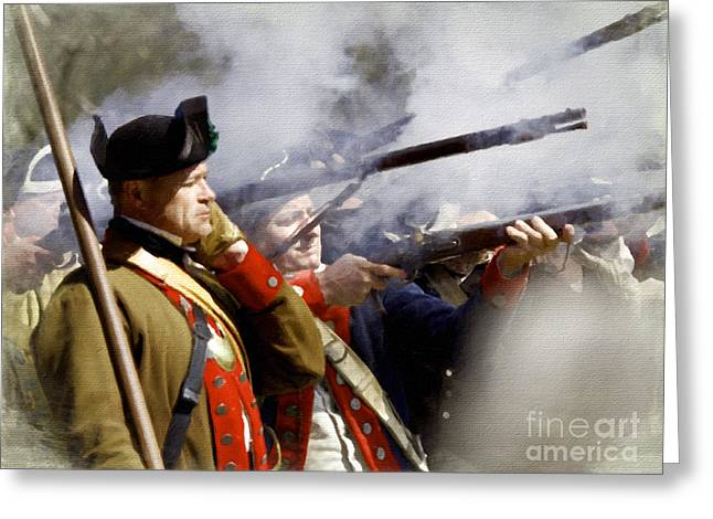 Re-enactor Greeting Cards - The Continental Line Greeting Card by Mark Miller