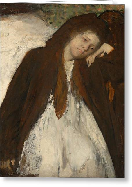 Convalescent Greeting Cards - The Convalescent Greeting Card by Edgar Degas