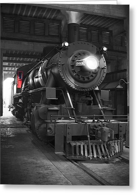 Locomotive Greeting Cards - The Cool Down Greeting Card by Mike McGlothlen