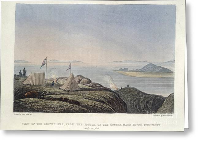 Travel Narratives Greeting Cards - The Copper Mine River Greeting Card by British Library