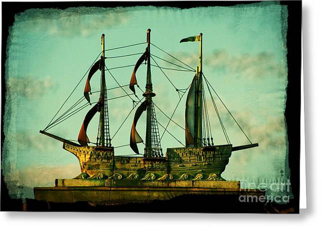 Buy Art Photographs Greeting Cards - The Copper Ship Greeting Card by Colleen Kammerer