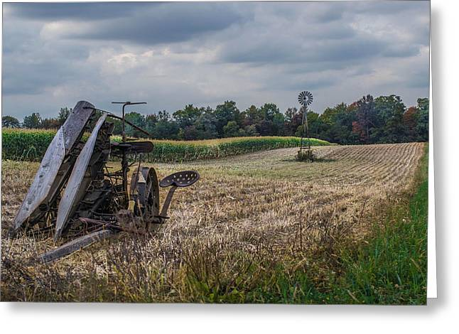 Corn Picker Greeting Cards - The Corn Picker Greeting Card by Anthony Thomas
