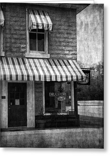 Grocer Greeting Cards - The Corner Deli Greeting Card by Kim Hojnacki