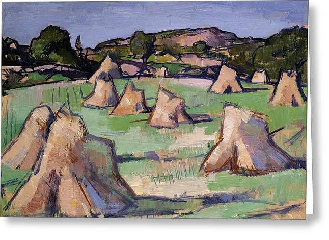 Bales Paintings Greeting Cards - The Cornfield, Douglas Hall, 1919 Greeting Card by Samuel John Peploe