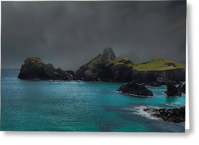 Low Light Greeting Cards - The Cornish Coast Greeting Card by Martin Newman