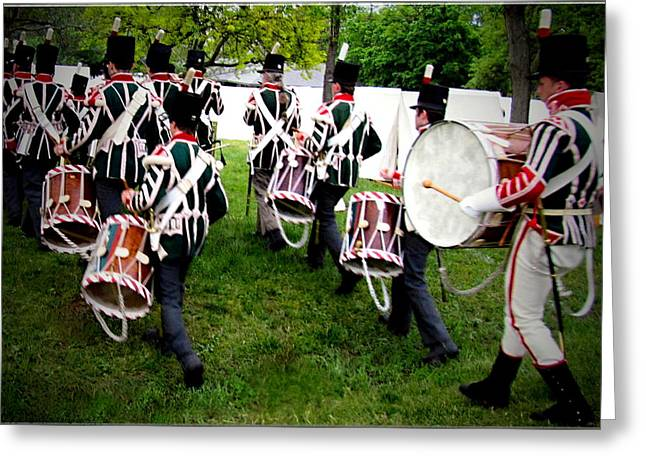 Colonial Actors Greeting Cards - The Corps of Drums of the Royal Anglican Regiment Greeting Card by Danielle  Parent