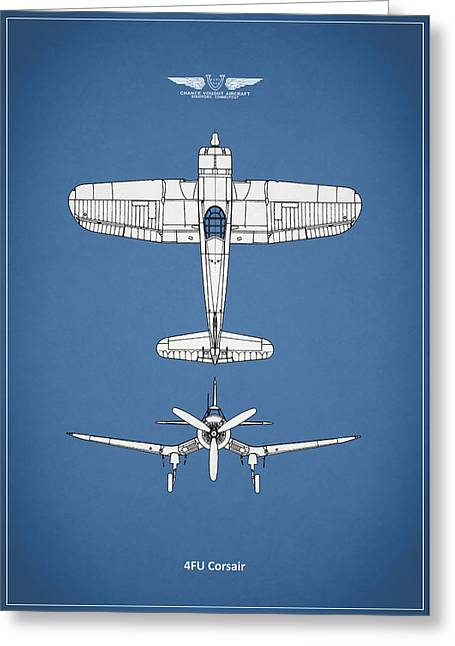Airplane Greeting Cards - The Corsair Greeting Card by Mark Rogan