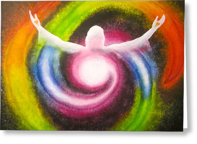 Jainism Greeting Cards - The Cosmic Christ Greeting Card by Sister Rebecca Shinas