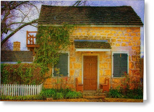 Joan Bertucci Greeting Cards - The Cottage Greeting Card by Joan Bertucci