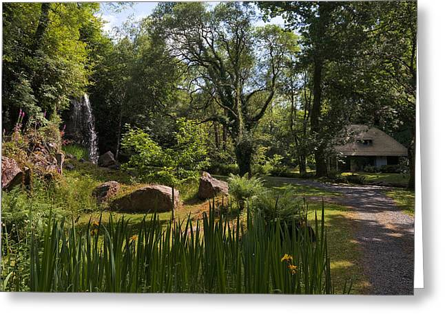 Reconstruction Greeting Cards - The Cottage Orneeteahouse, Kilfane Glen Greeting Card by Panoramic Images