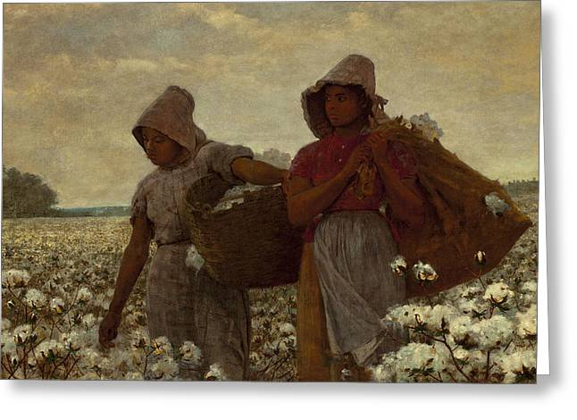 Winslow Homer Digital Art Greeting Cards - The Cotton Pickers Greeting Card by Winslow Homer