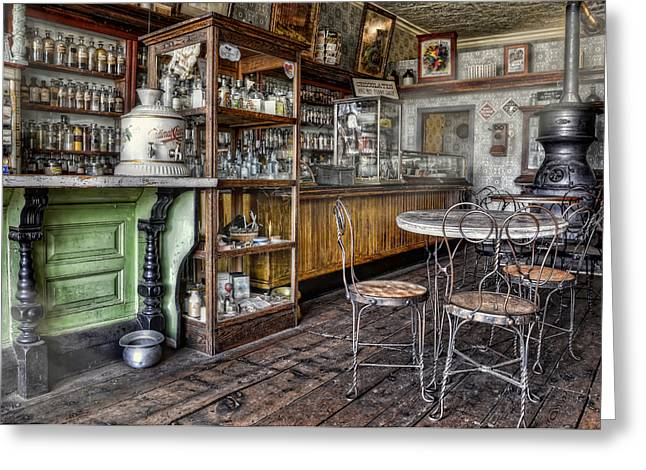 Country Store Greeting Cards - The Counter Greeting Card by Ken Smith