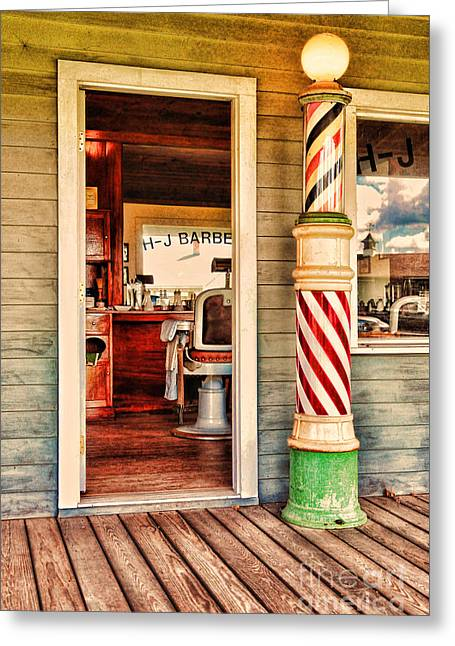 The Country Barber Greeting Card by Paul Ward