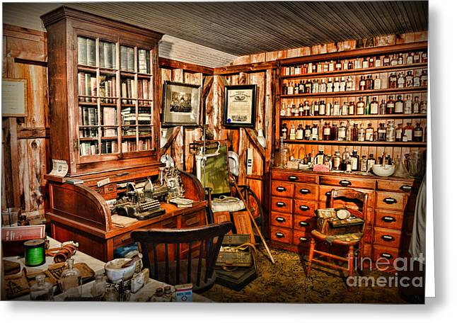 Wheelchair Greeting Cards - The Country Doctor Greeting Card by Paul Ward