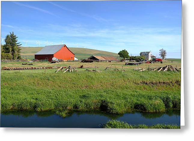 Barn Yard Greeting Cards - The country farm Eastern Washington state. Greeting Card by Gino Rigucci