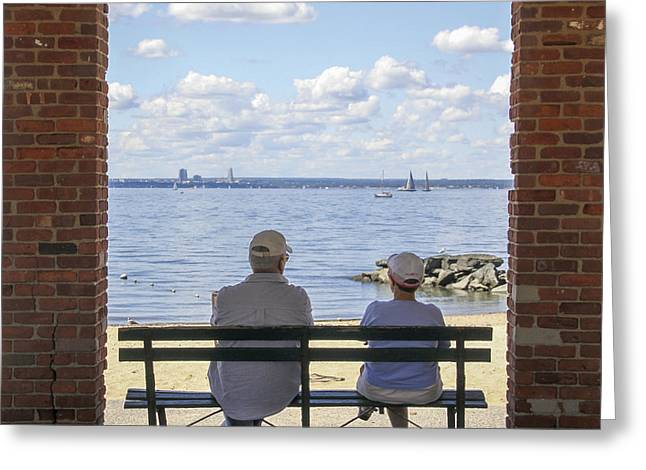 Photographic Greeting Cards - The Couple Greeting Card by Bob Slitzan