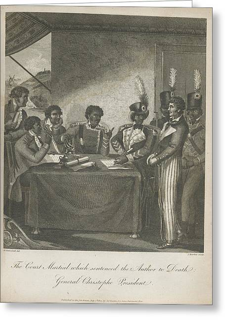 The Court Martial Greeting Card by British Library