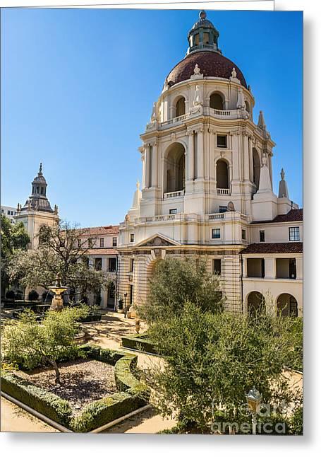 The Courtyard - Beautiful Pasadena City Hall. Greeting Card by Jamie Pham