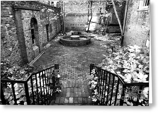The Courtyard At The Old North Church Greeting Cards - The Courtyard at the Old North Church Greeting Card by John Rizzuto