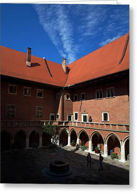 Copernicus Greeting Cards - The Courtyard Of 15th Century Greeting Card by Panoramic Images