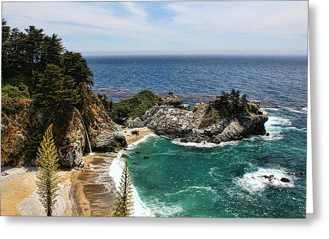 Pfeiffer Beach Greeting Cards - The Cove Greeting Card by Judy Vincent