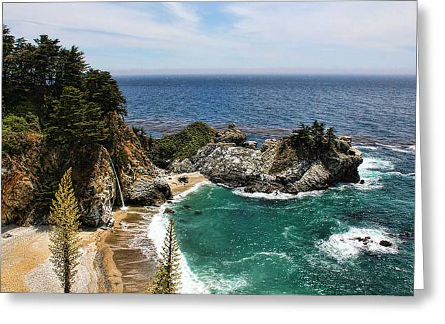 Big Sur California Greeting Cards - The Cove Greeting Card by Judy Vincent
