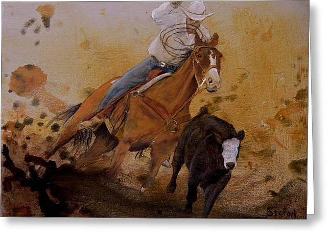 Steer Greeting Cards - The Cowboy Way Greeting Card by Stefon Marc Brown