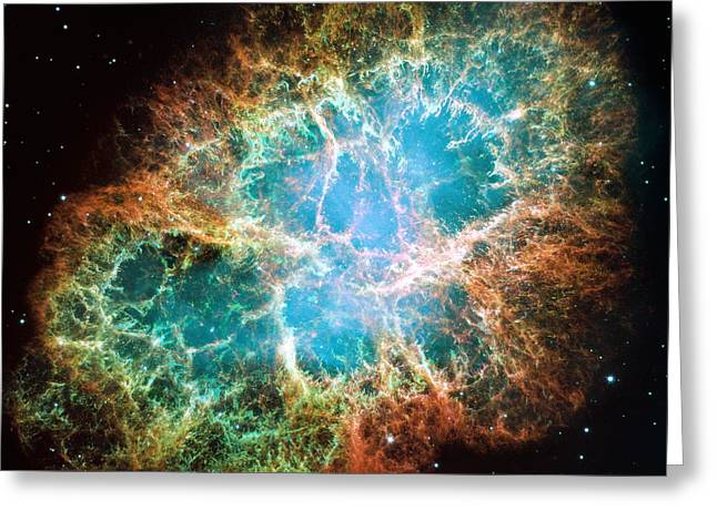 Crab Nebula Greeting Cards - The Crab Nebula Greeting Card by Eric Glaser